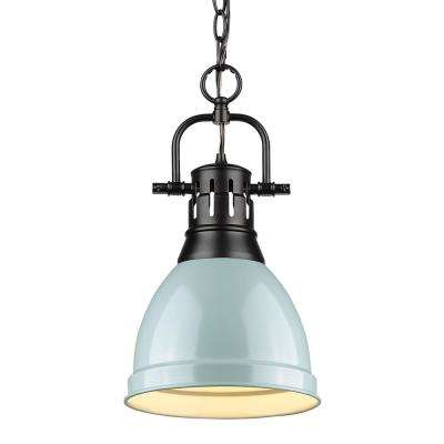 Duncan 1 Light Black Pendant And Chain With