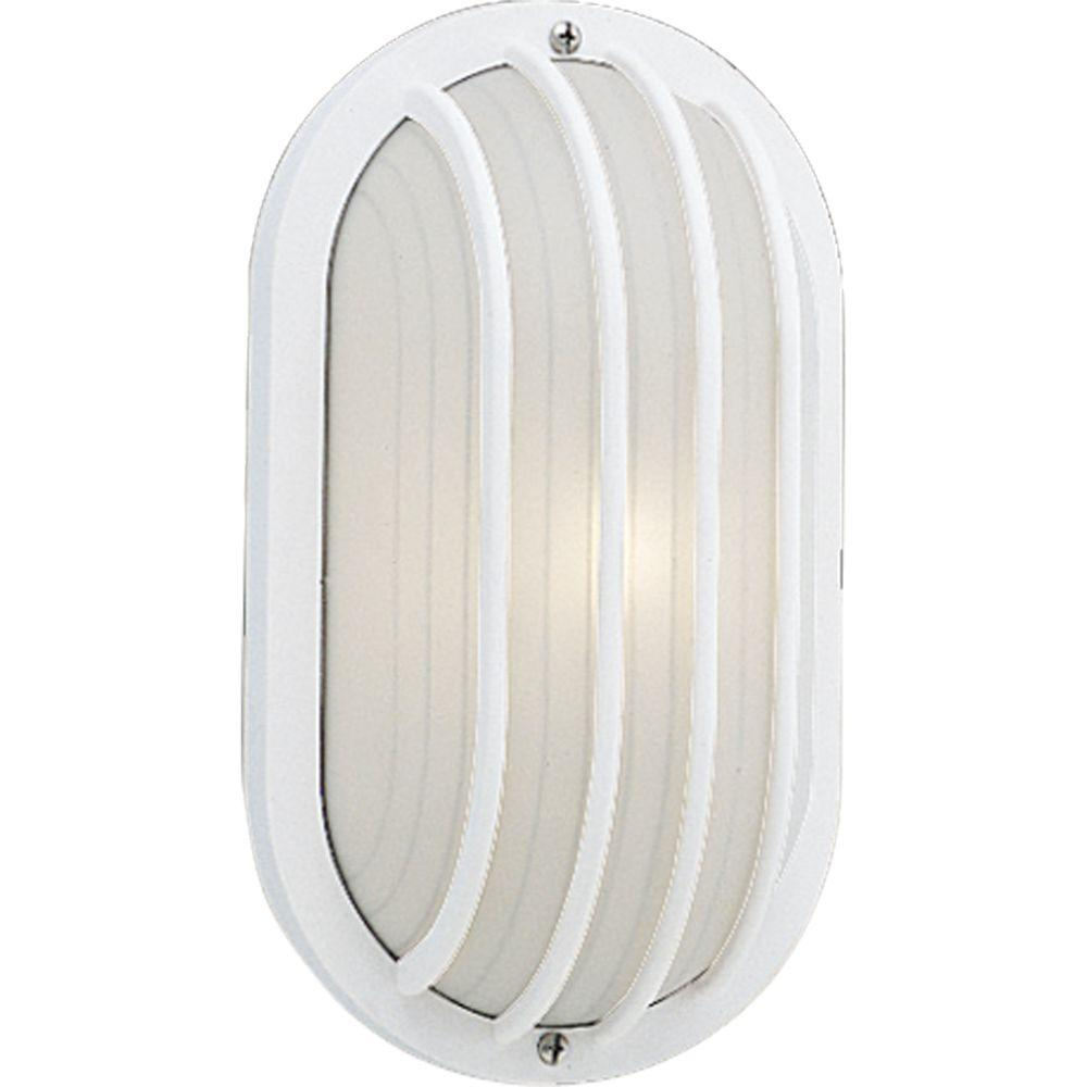 1-Light Outdoor White Wall Lantern