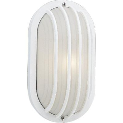 1-Light 5.9 in. Outdoor White Wall Lantern