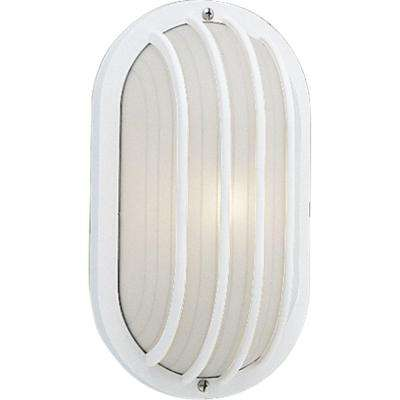1-Light Outdoor White Wall Lantern