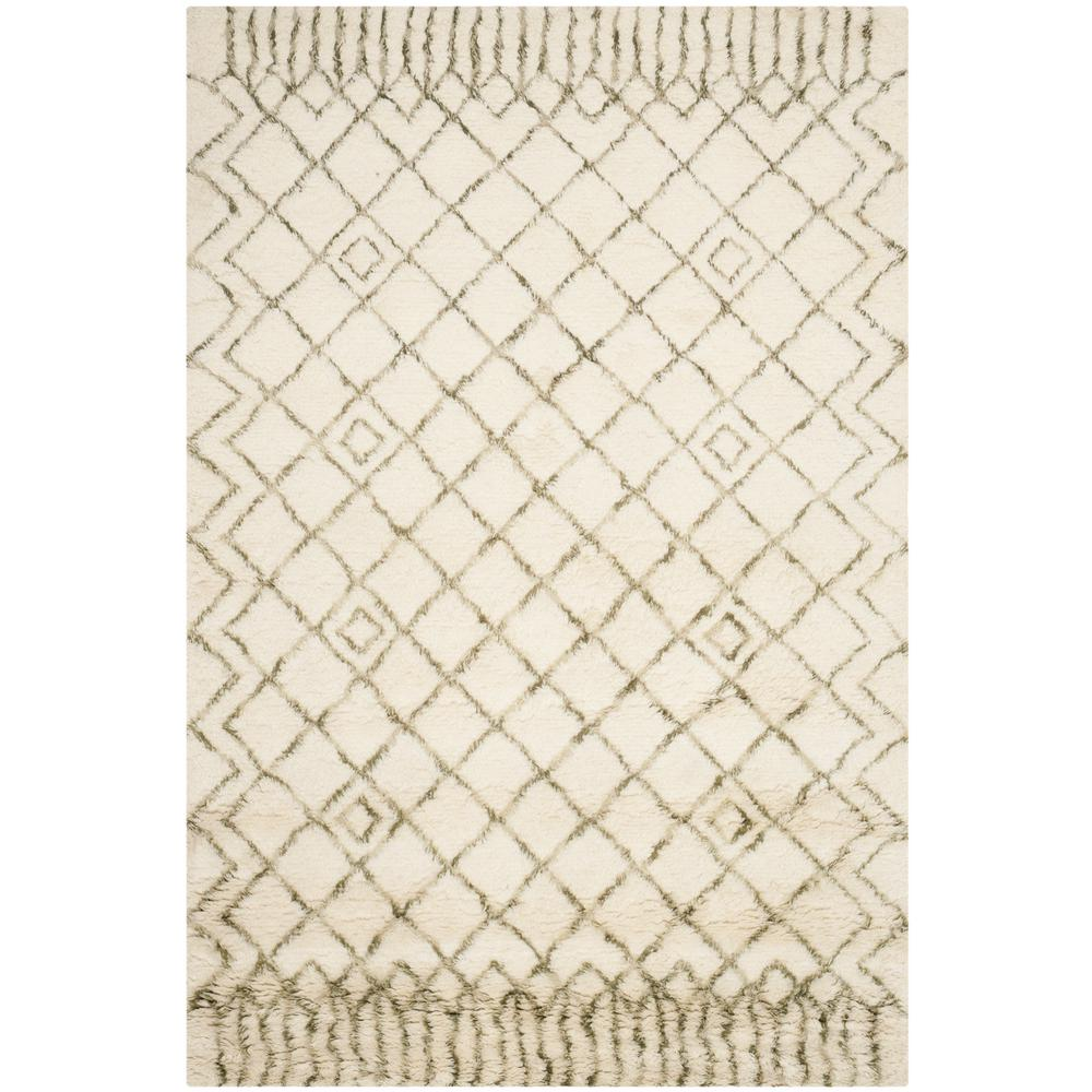 Casablanca Ivory/Green 5 ft. x 8 ft. Area Rug