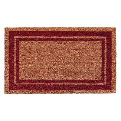Burgundy Border Door Mat 18 in. x 30 in.