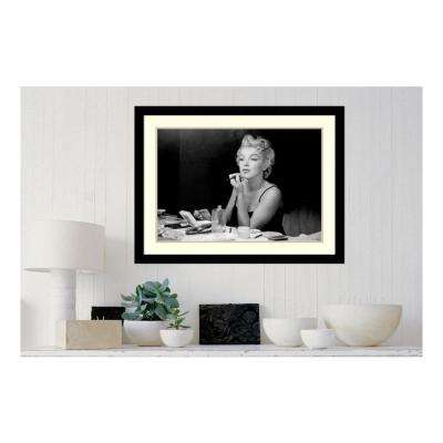 36 in. x 27 in. 'Marilyn Monroe - Back Stage' by Sam Shaw Printed Framed Wall Art