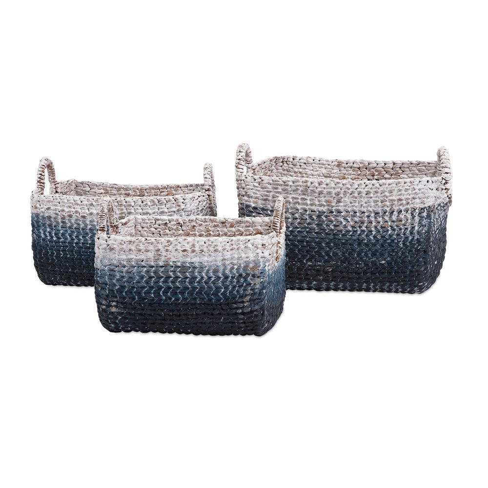 Cascade Woven Water Hyacinth Baskets (Set of 3)