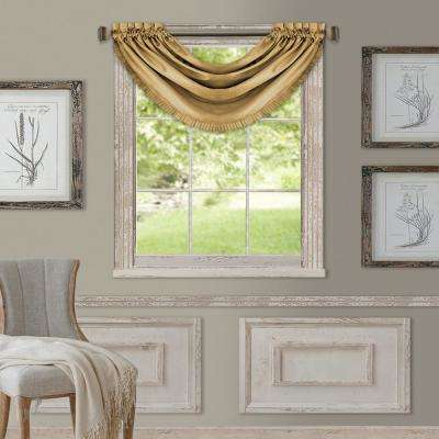 Elrene Versailles 52 in. W x 36 in. L Polyester Single Blackout Window Valance in Gold