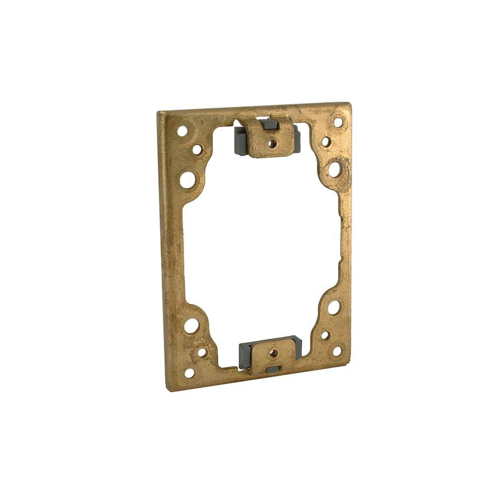 Floor Box Cover Flange, Replacement for Single, 2 and 3-Gang Concrete Floor Box