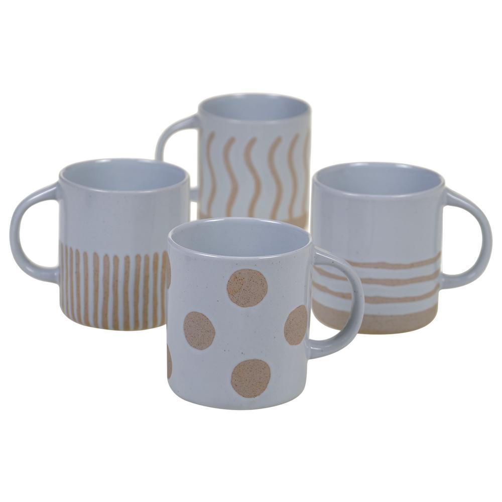 Artisan 22 oz. Multi-color Mug (Set of 4)