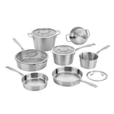 11-Piece Conical Stainless Steel Induction Ready Cookware Set