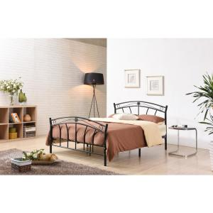 hot sales 542f0 43514 Black Full-Size Metal Panel Bed with Headboard and Footboard