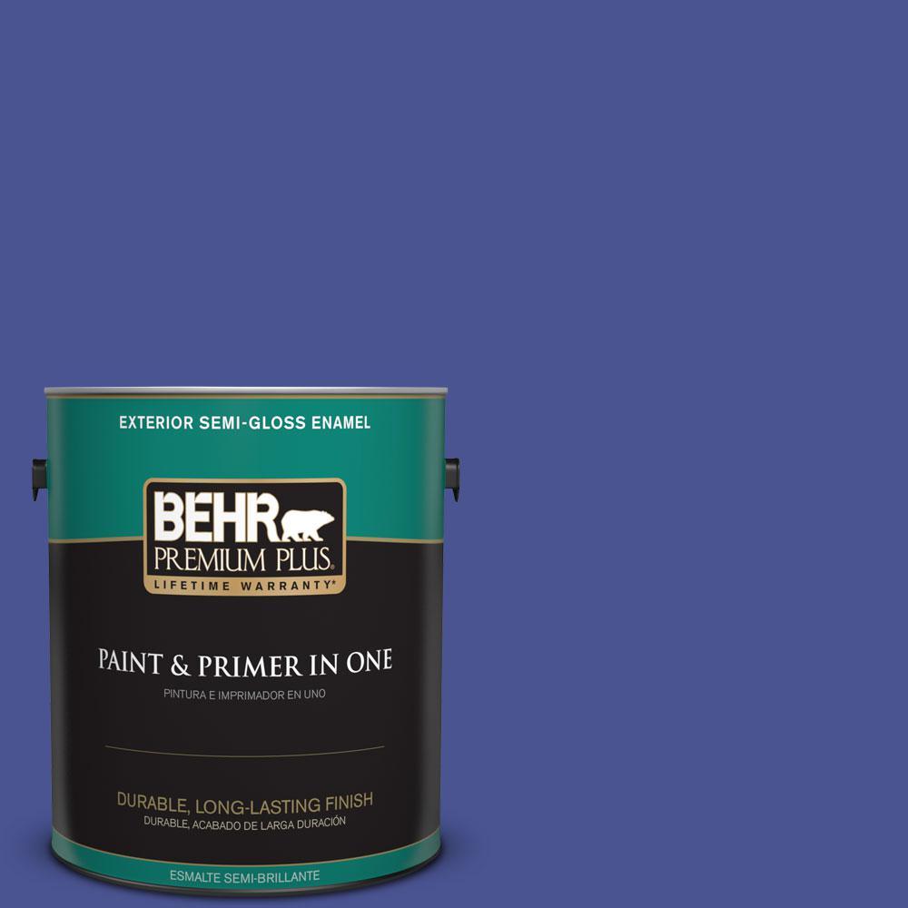 1-gal. #P540-7 Canyon Iris Semi-Gloss Enamel Exterior Paint