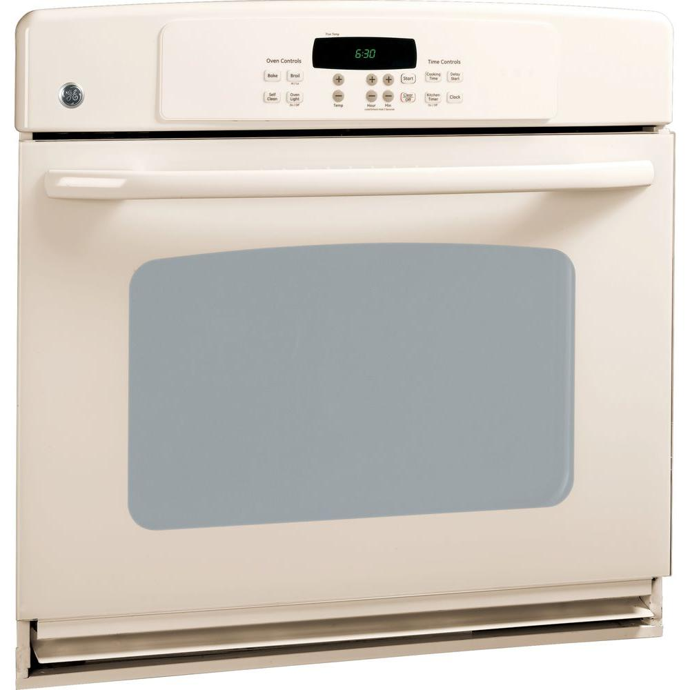 GE 30 in. Single Electric Wall Oven Self-Cleaning with Convection in Bisque GE appliances provide up-to-date technology and exceptional quality to simplify the way you live. With a timeless appearance, this family of appliances is ideal for your family. And, coming from one of the most trusted names in America, you know that this entire selection of appliances is as advanced as it is practical. Color: Bisque.