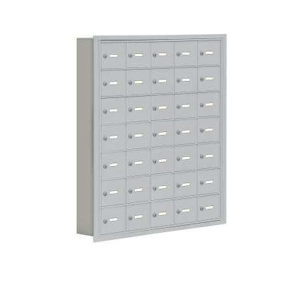 19000 Series 37 in. W x 42 in. H x 5.75 in. D 35 A Doors R-Mount Keyed Locks Cell Phone Locker in Aluminum