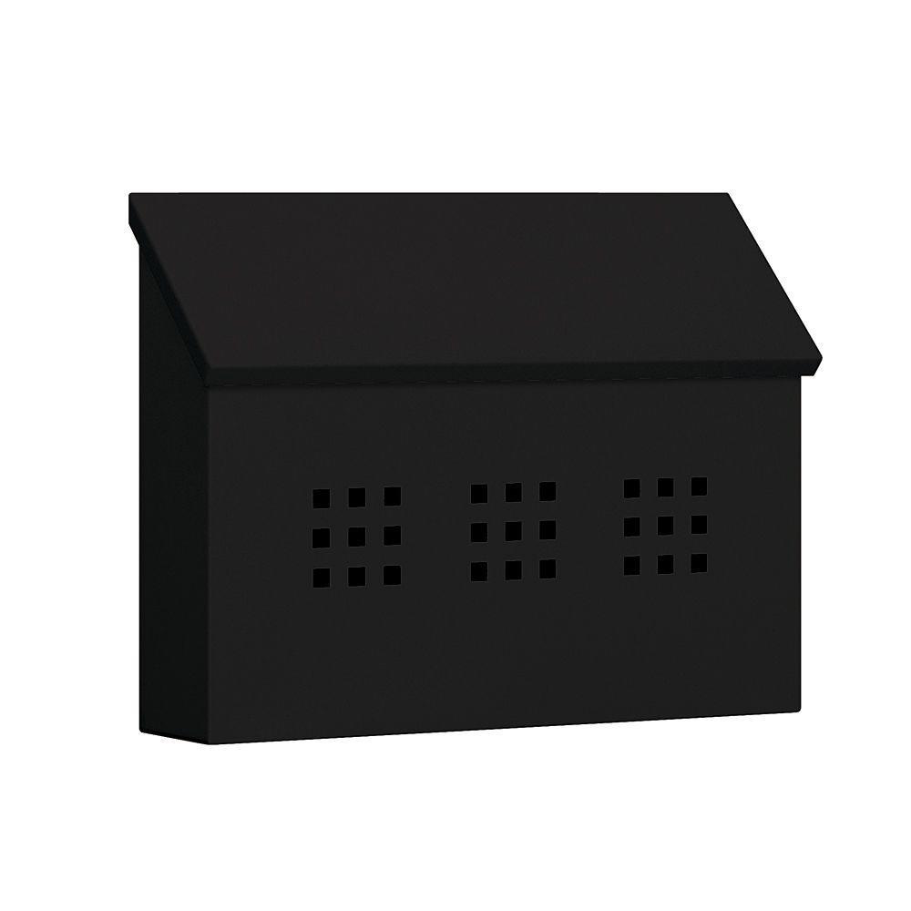 4600 Series Black Decorative Horizontal Traditional Mailbox