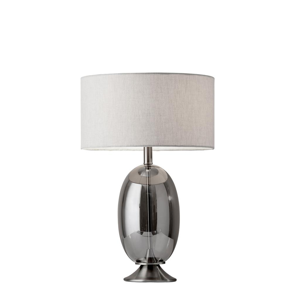 Bailey 23 in. Brushed Steel Table Lamp