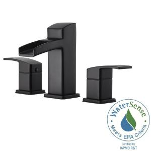 Pfister Kenzo 8 inch Widespread 2-Handle Bathroom Faucet in Matte Black by Pfister
