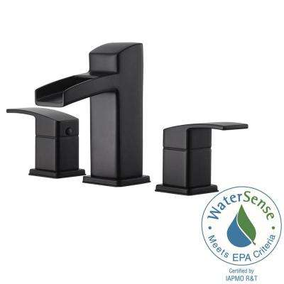 Widespread 2 Handle Bathroom Faucet In Matte Black
