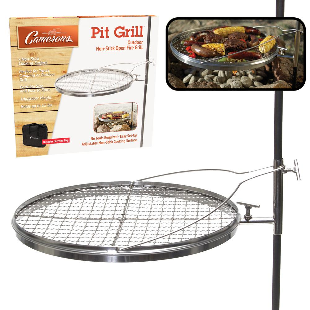 Open Fire Pit Grill - Portable Stainless Steel Charcoal or Wood Grill - Open Fire Pit Grill - Portable Stainless Steel Charcoal Or Wood