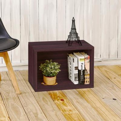 16 in. H x 23 in. W x 11 in. D Espresso Recycled Materials 1-Cube Storage Organizer