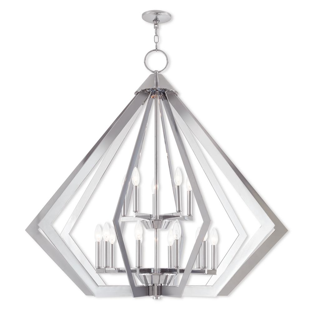 Livex Lighting Prism 15 Light Polished Chrome Foyer Chandelier