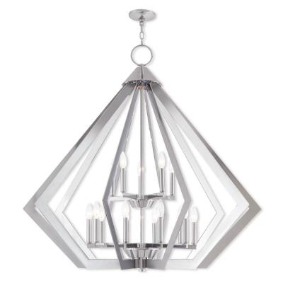 Prism 15-Light Polished Chrome Foyer Chandelier