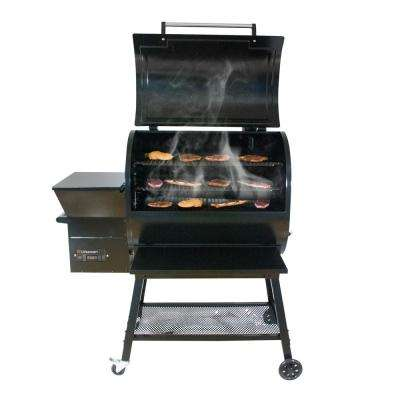 1500 sq. in. Cooking Surface Pellet Grill and Smoker in Black with Dual Meat Probes and Precision Digital Control