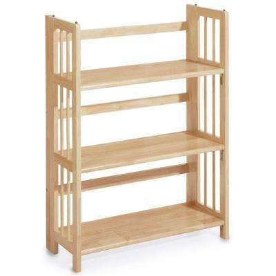 Natural Folding/Stacking Open Bookcase