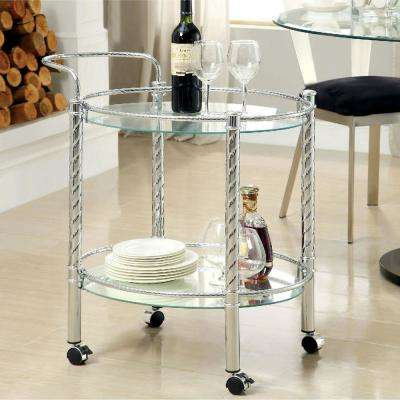 Whitney Chrome Serving Cart
