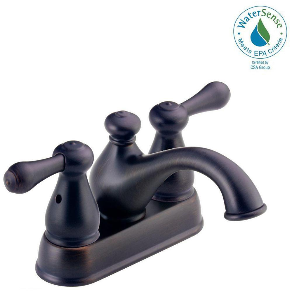 Delta Leland In Centerset Handle Bathroom Faucet In Venetian - Labor cost to replace bathroom faucet