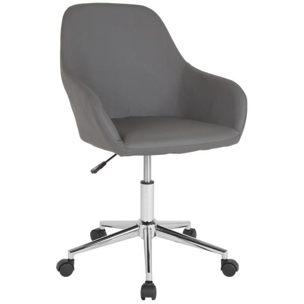 Gray Leather Office/Desk Chair
