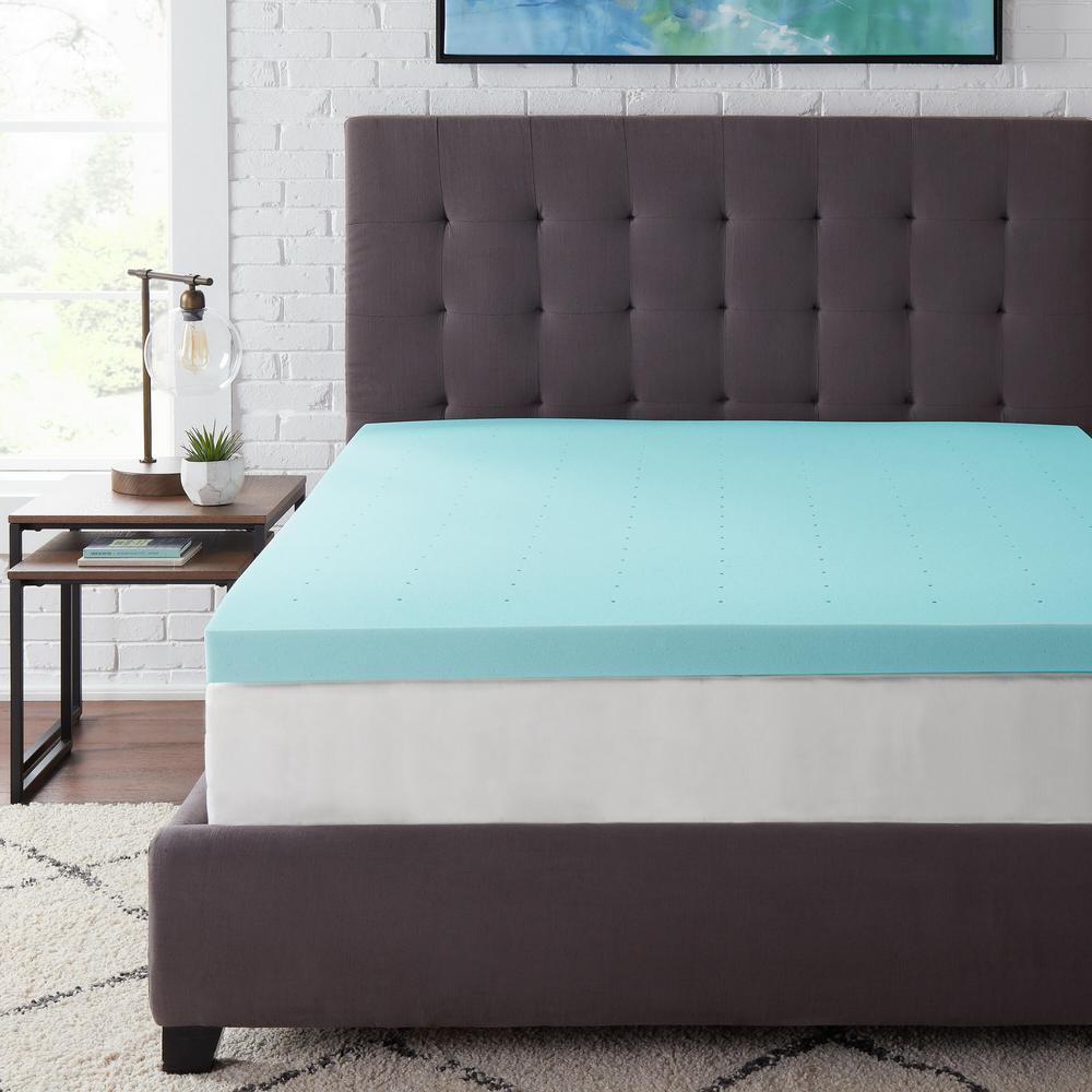 StyleWell 3 in. Gel Infused Memory Foam Twin Mattress Topper, Blue was $84.87 now $50.92 (40.0% off)