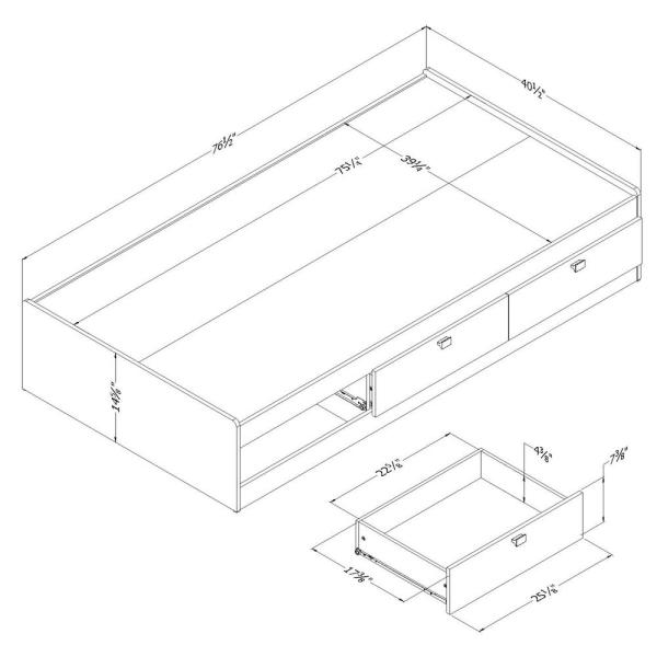 Reviews For South Shore Spark 3 Drawer Twin Size Storage Bed In Pure White 3260080 The Home Depot