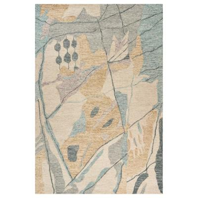 Divergence Beige 5 ft. x 7 ft. Abstract Conceptual Beyond Indoor Area Rug