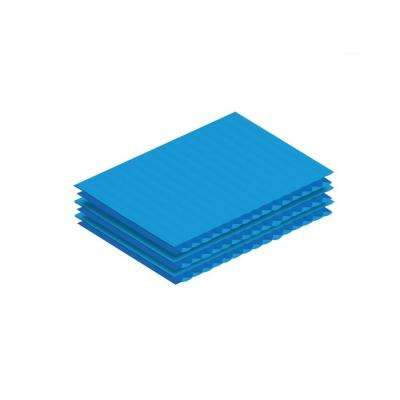 24 in. x 18 in. x .15 in. Blue Corrugated Plastic Sheet (12-Pack)