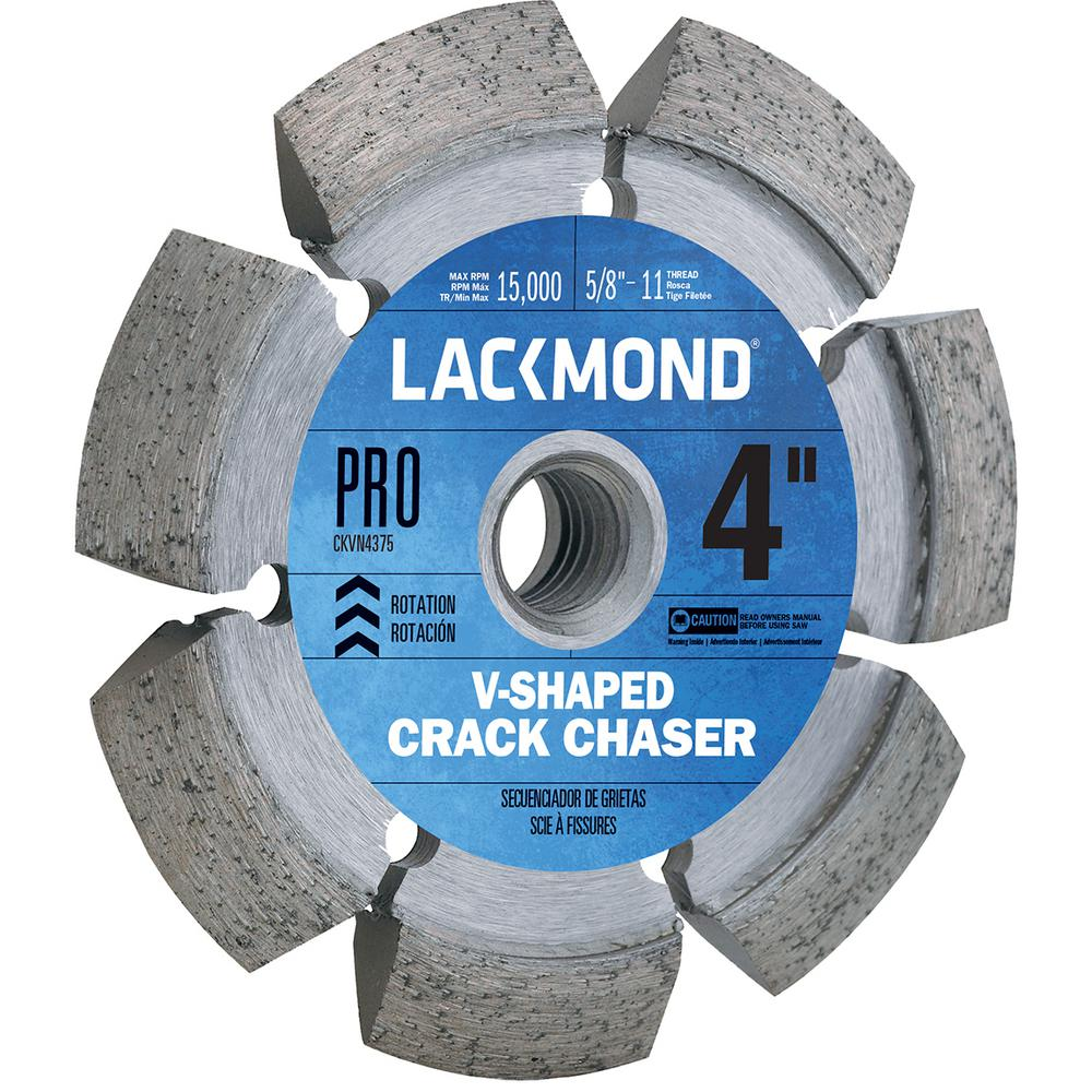 Lackmond 4 in. Crack Chaser Wheel with 5/8 in. -11 Nut