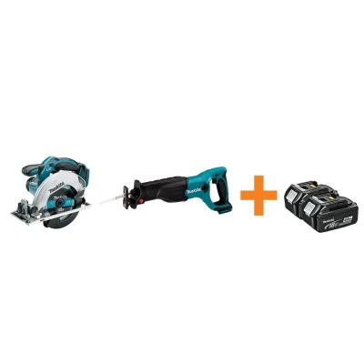 18-Volt LXT Lithium-Ion 6-1/2 in. Cordless Circular Saw and Reciprocal Saw with Free 4.0Ah Battery (2-Pack)