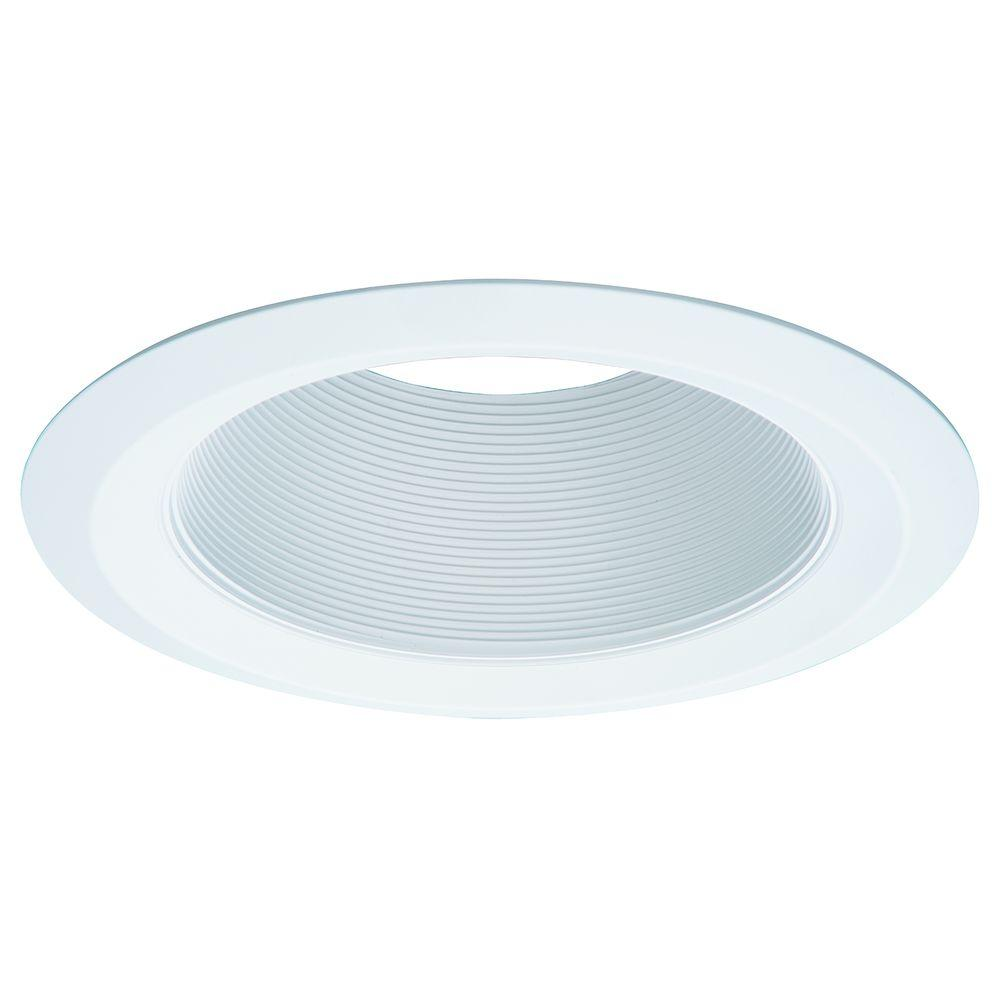 E26 Series 6 in. White Recessed Ceiling Light Tapered Baffle with