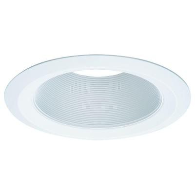 E26 Series 6 in. White Recessed Ceiling Light Tapered Baffle with Self Flanged White Trim Ring