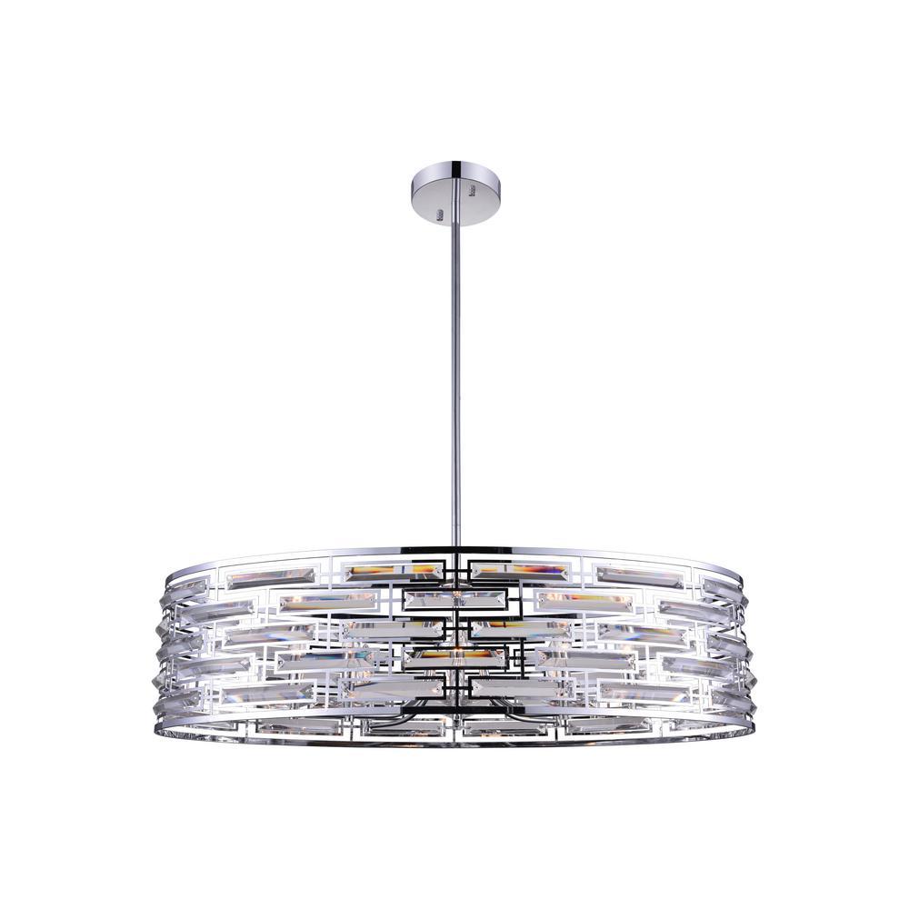 Petia 8-Light Chrome Chandelier