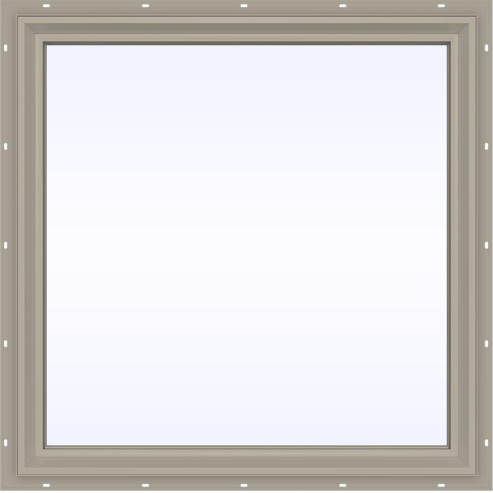 35.5 in. x 35.5 in. V-2500 Series Fixed Picture Vinyl Window