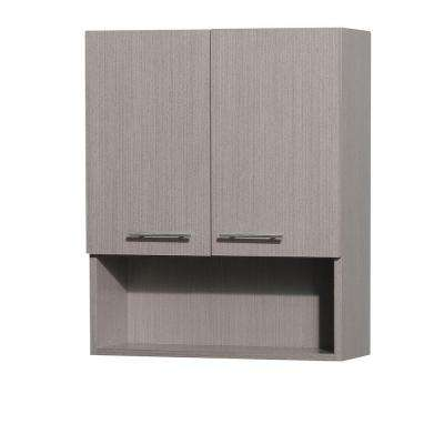 Centra 24 in. W x 29 in. H x 8 1/2 in. D Bathroom Storage Wall Cabinet in Grey Oak