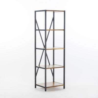 Natural Wood Grain 5-Tier Etagere Shelf