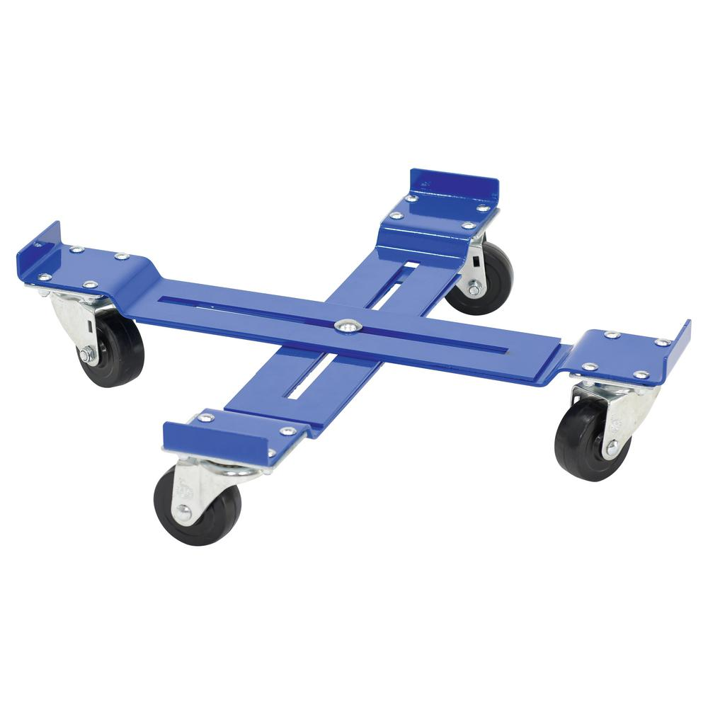 1000 lb. Capacity Mobile Drum Dolly - Adjustable