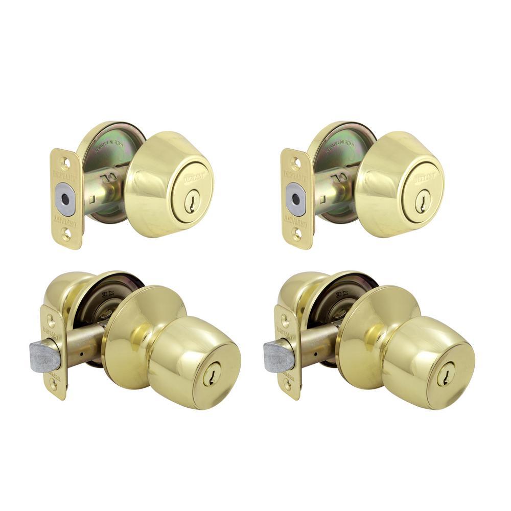 Brandywine Polished Brass Single Cylinder Keyed Entry Project Pack