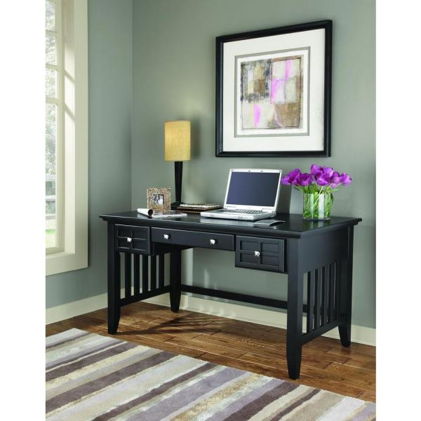 Home Styles Arts and Crafts Black Desk 5181-15