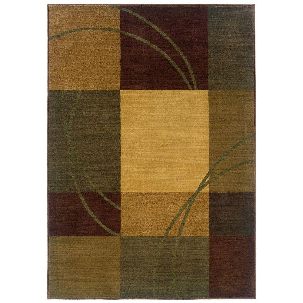 null Eternity Nuance Blue and Brown 7 ft. 10 in. x 11 ft. Area Rug