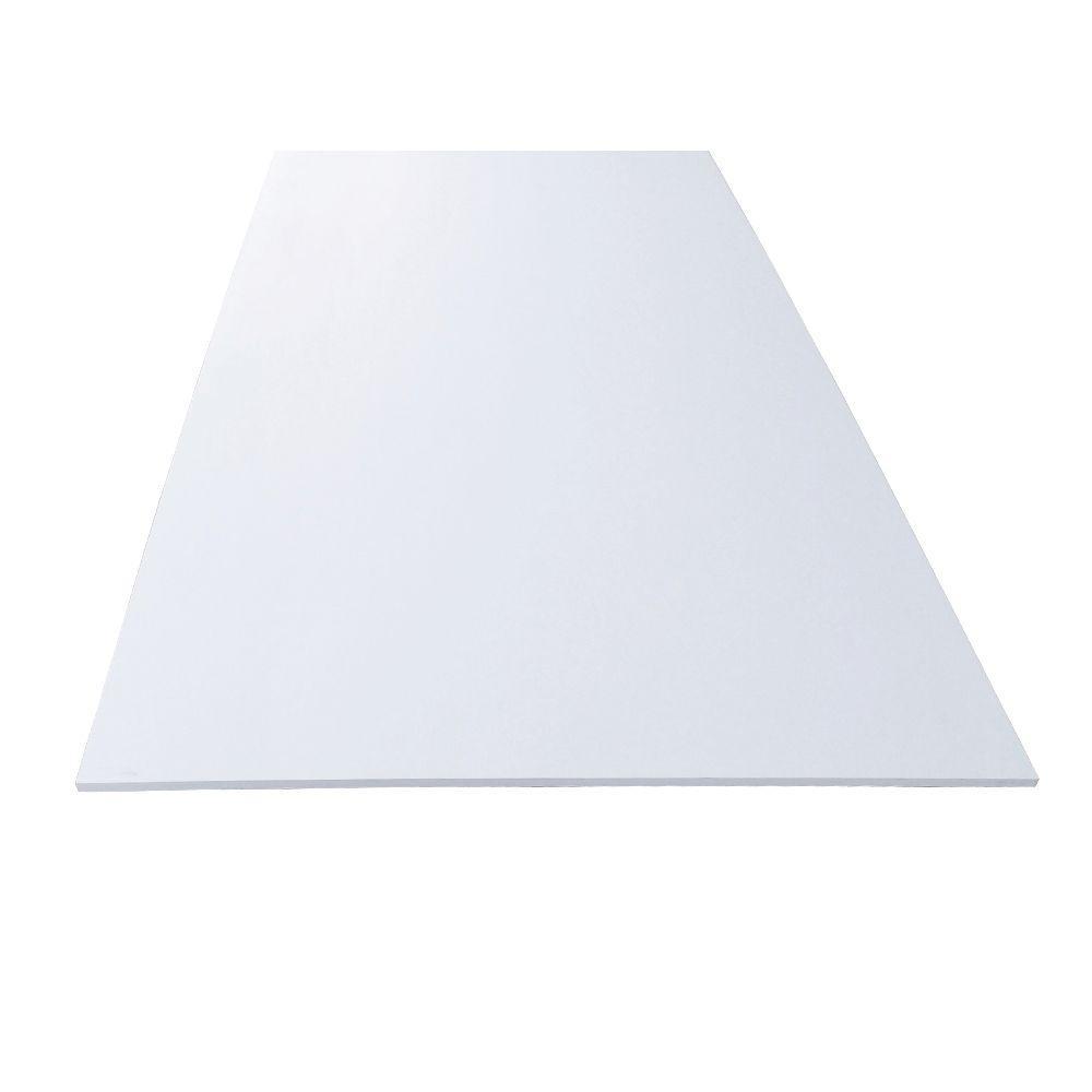1/4 in. x 48 in. x 96 in. White PVC Lower