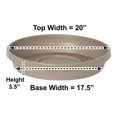 Terra Pebble Stone Plastic Plant Saucer Tray for Planters 17 in. to 24 in.