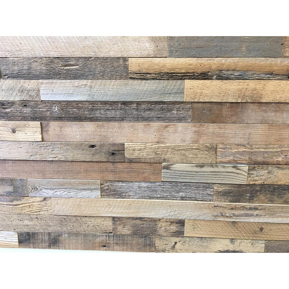Reclaimed Barnwood Brown Natural 3 8 In Thick X 2 W