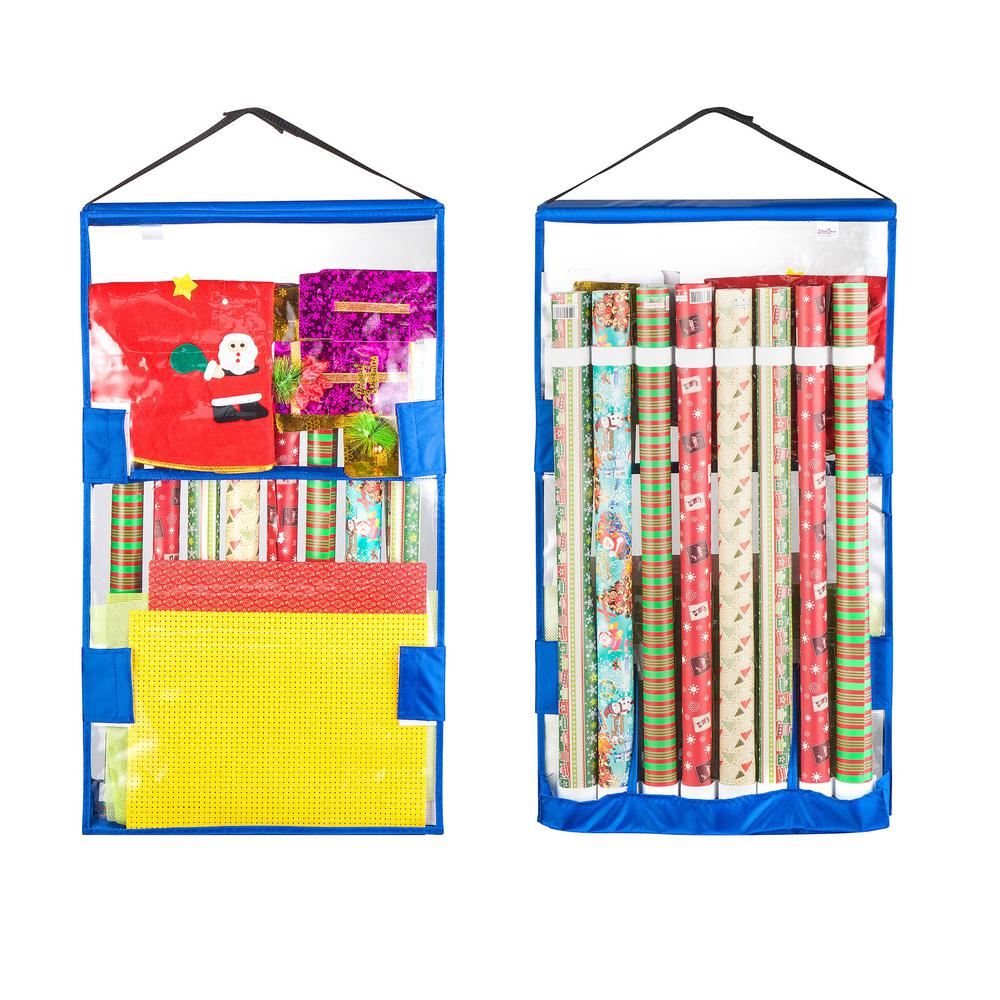 Double Sided Hanging Gift Wrap and Bag Organizer  sc 1 st  The Home Depot & Tiny Tim Totes Double Sided Hanging Gift Wrap and Bag Organizer ...