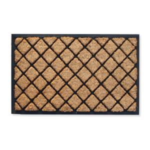 A1HC First Impression Alvina Striped 18 inch x 30 inch Rubber and Coir Door Mat by